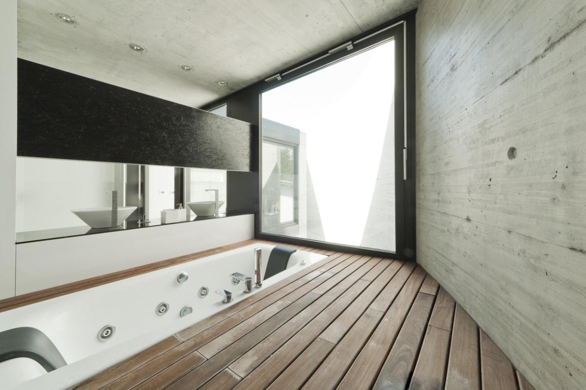 badkamer in betonbouw woning